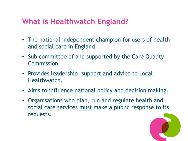 What is Healthwatch England?