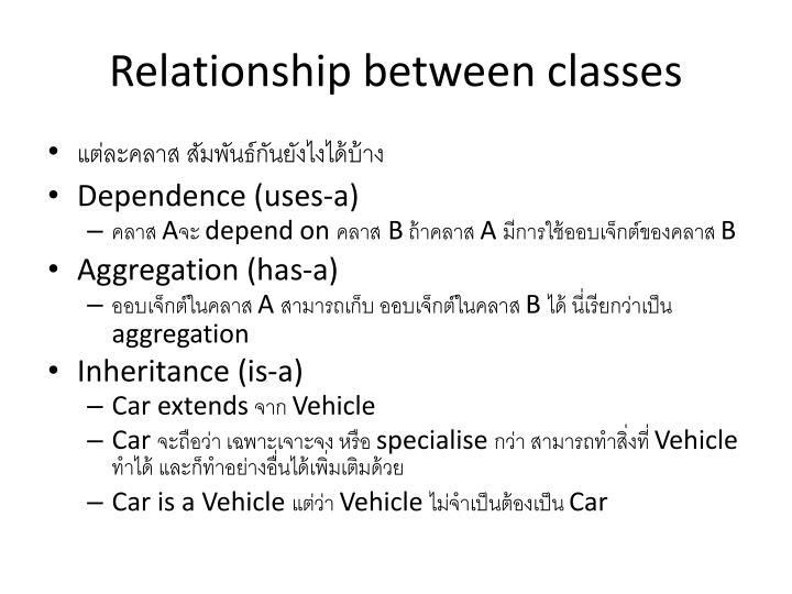 Relationship between classes