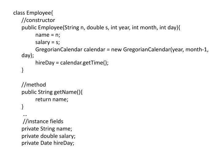 class Employee{