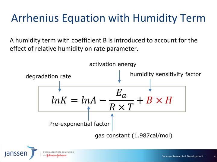 Arrhenius Equation with Humidity Term