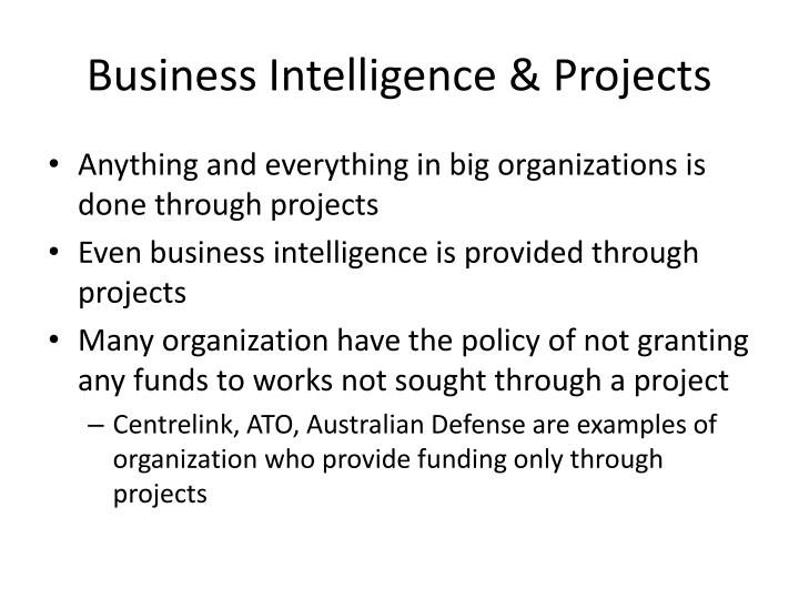 Business Intelligence & Projects