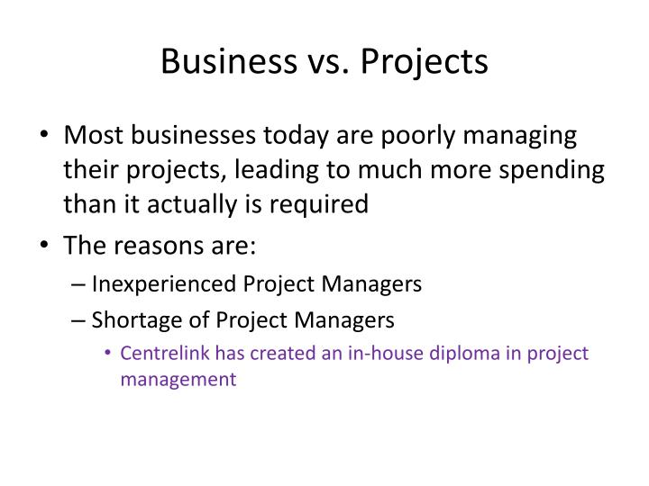 Business vs. Projects