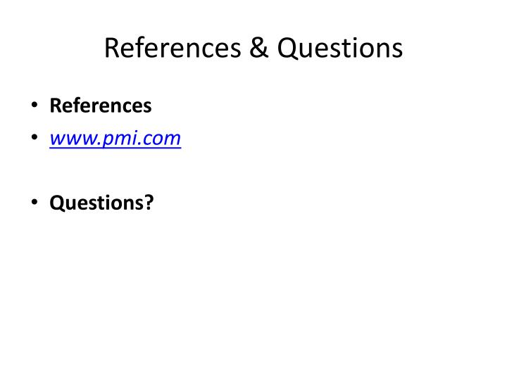 References & Questions
