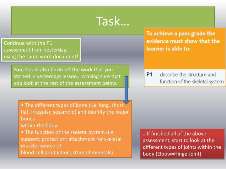 Task…