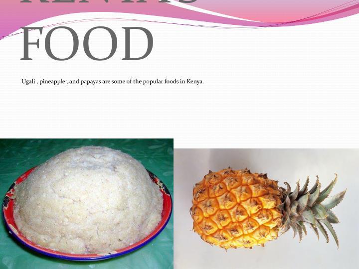 KENYA'S FOOD
