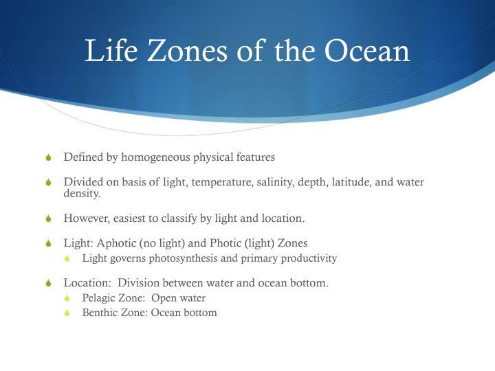 Life Zones of the Ocean