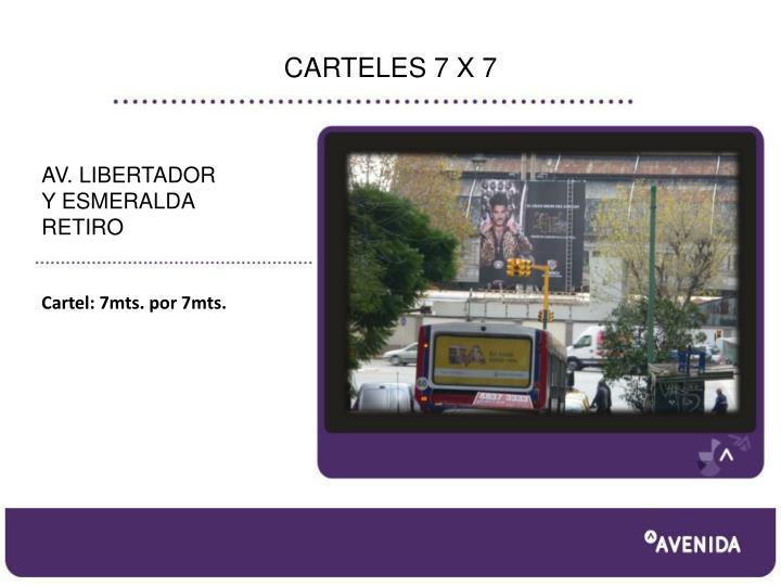CARTELES 7 X 7