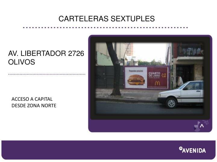 CARTELERAS SEXTUPLES