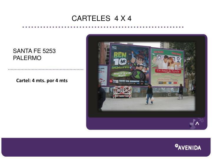 CARTELES  4 X 4