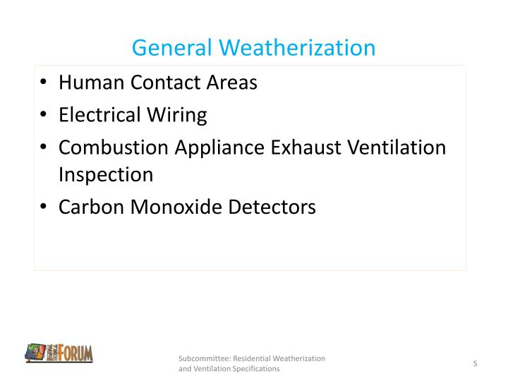 General Weatherization