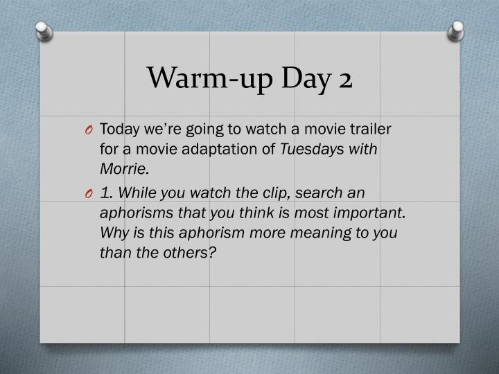 Warm-up Day 2