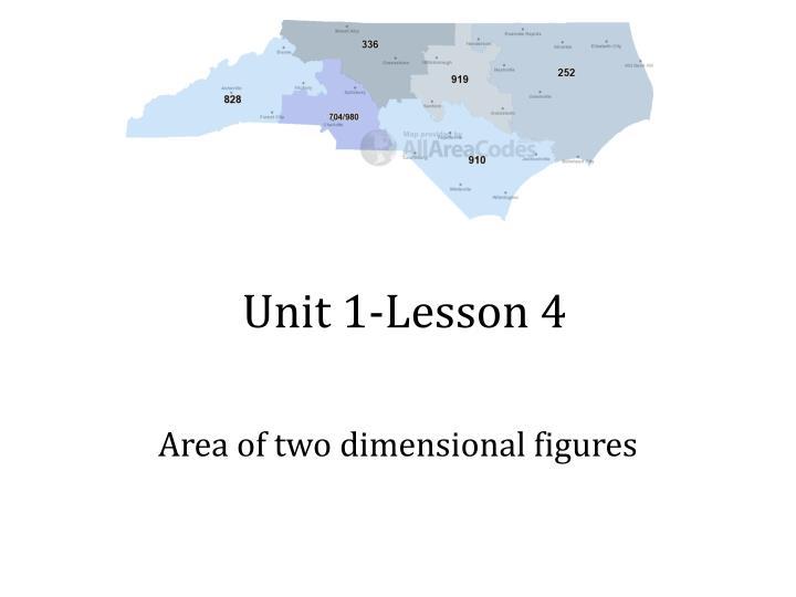 Unit 1-Lesson