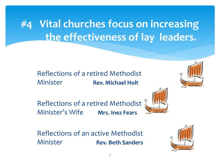 4 vital churches focus on increasing the effectiveness of lay leaders