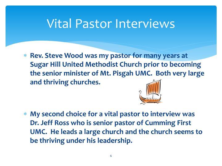 Vital Pastor Interviews