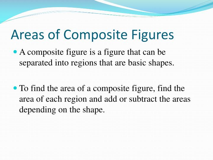 how to find composite area of a shape