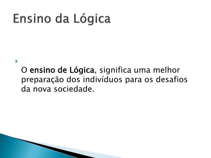 Ensino da Lógica