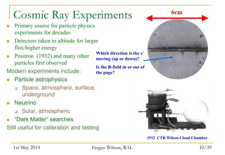 Cosmic Ray Experiments