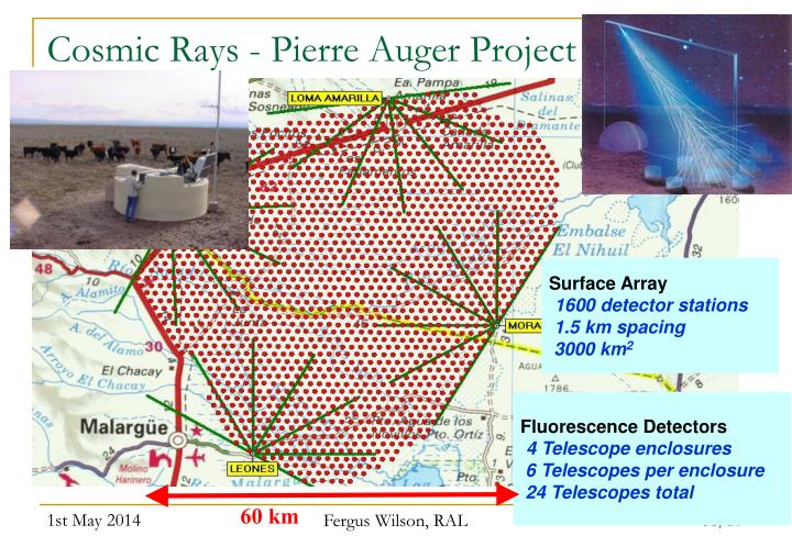 Cosmic Rays - Pierre Auger Project