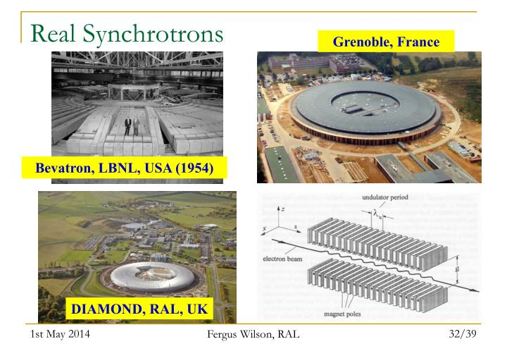 Real Synchrotrons