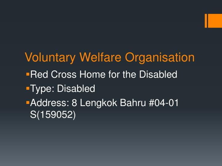 Voluntary welfare organisation