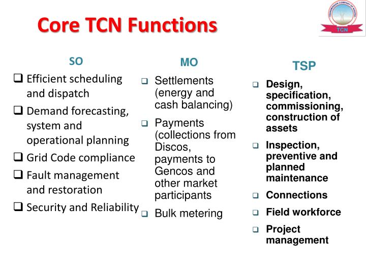 Core TCN Functions