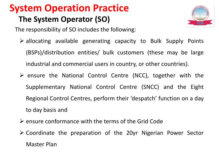 System Operation Practice