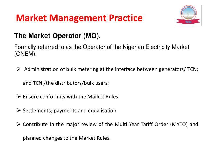 Market Management Practice