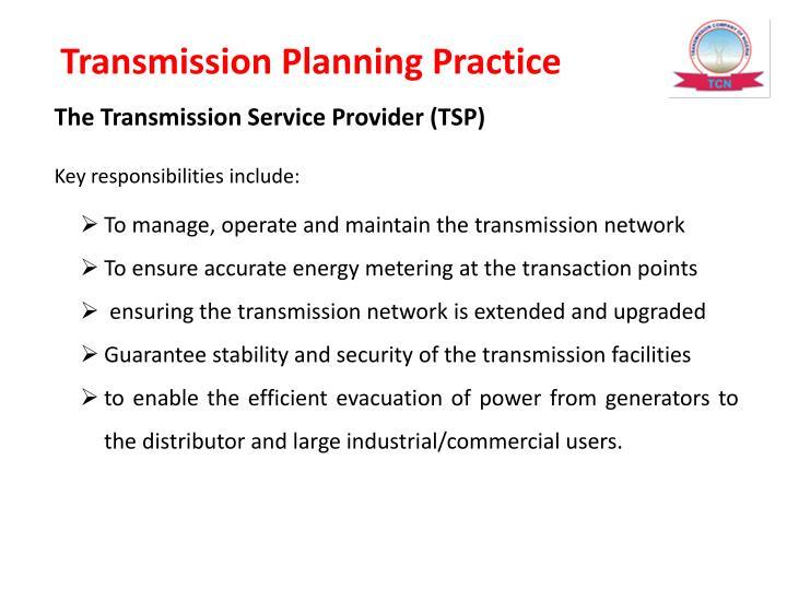 Transmission Planning Practice