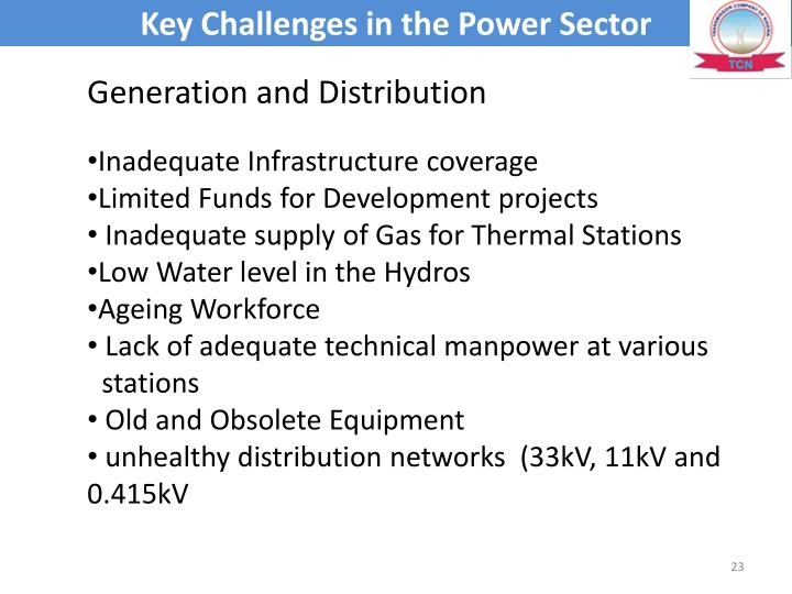 Key Challenges in the Power Sector