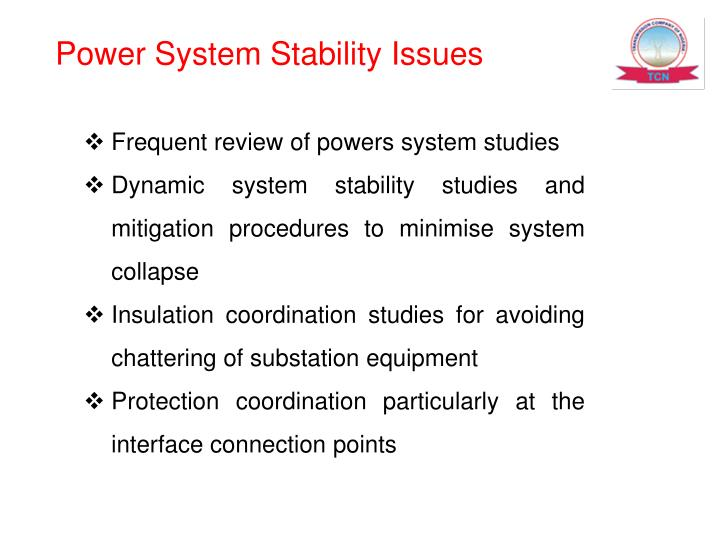 Power System Stability Issues