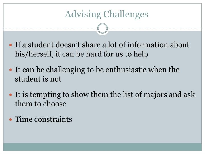 Advising Challenges