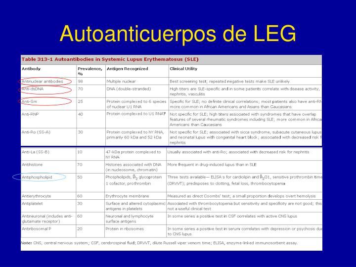 Autoanticuerpos de LEG
