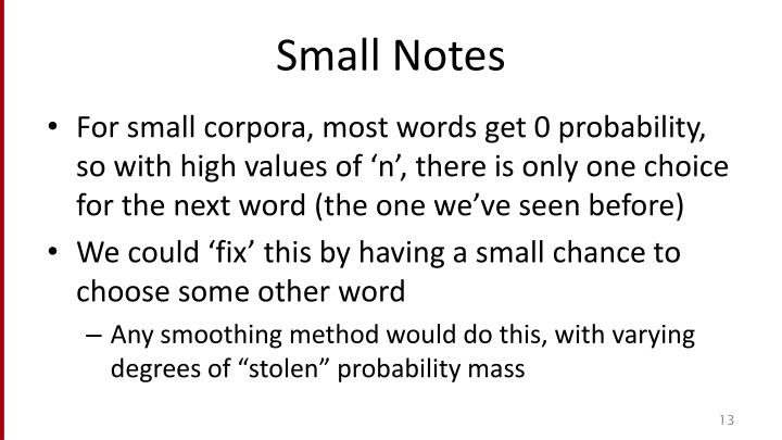 Small Notes