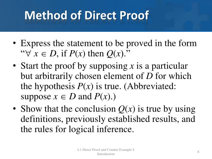 Method of Direct Proof