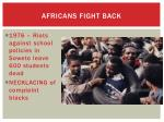 africans fight back