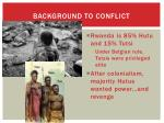 background to conflict