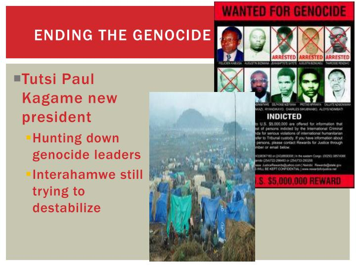Ending the genocide