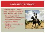 government response