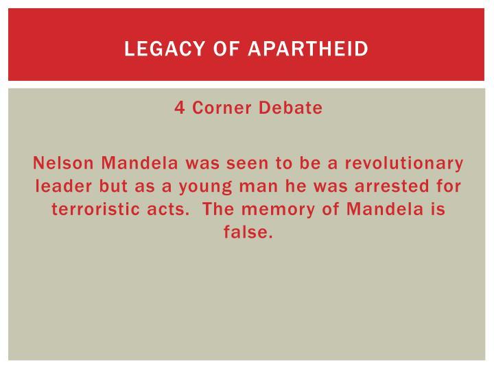 Legacy of Apartheid
