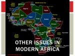 other issues in modern africa