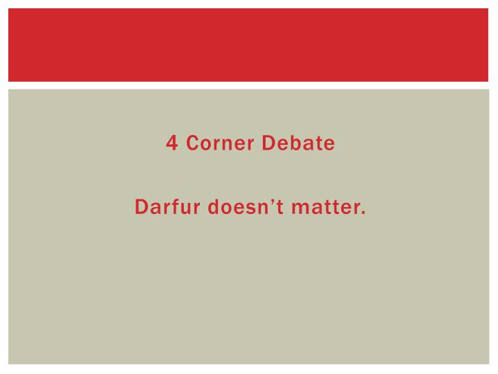 4 Corner Debate