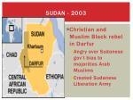 sudan 2003