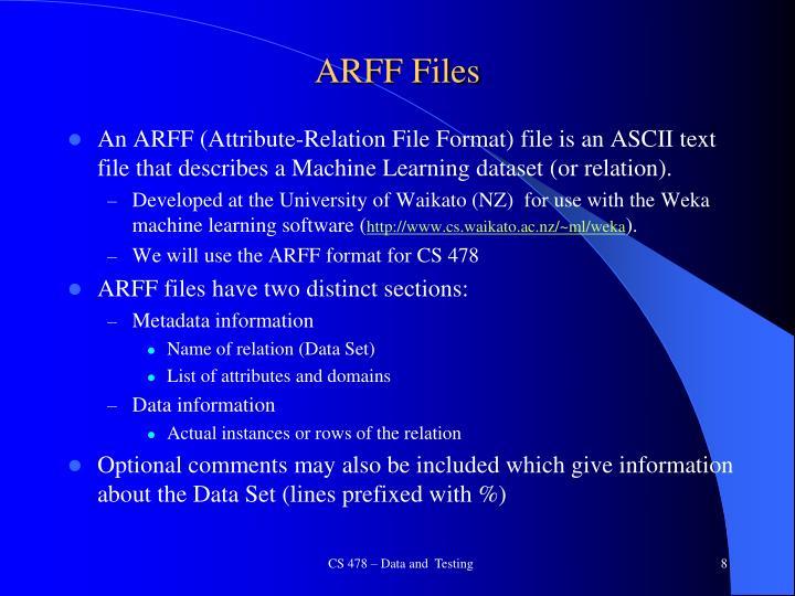 ARFF Files