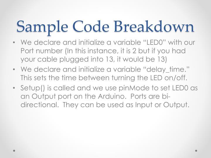 Sample Code Breakdown