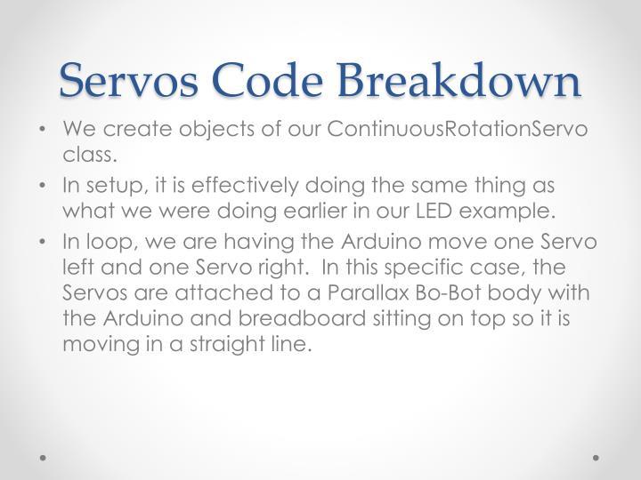 Servos Code Breakdown