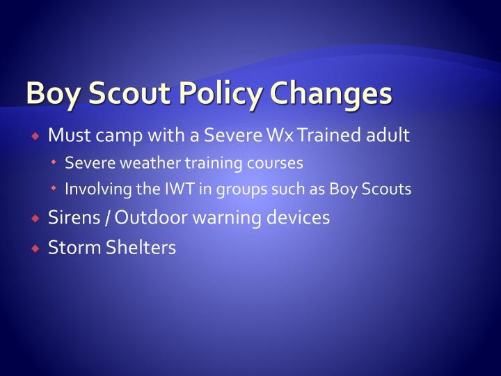 Boy Scout Policy Changes