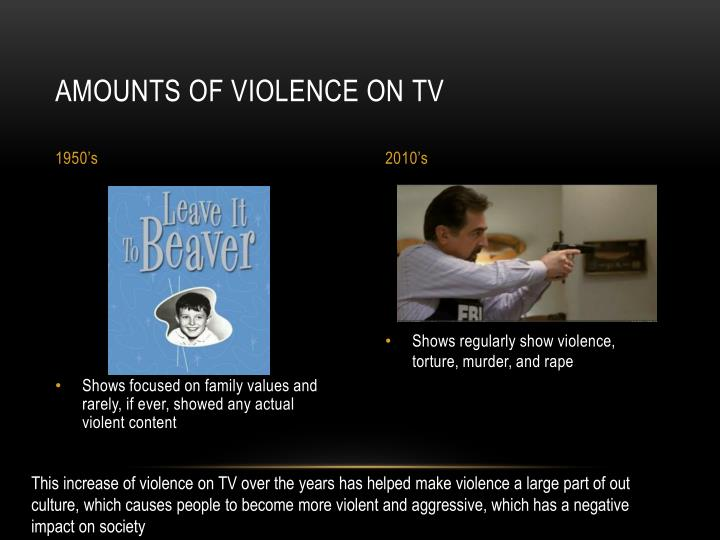 television violence has a negative effect on society because it promotes violence Does television promote violence does television promote violence as society there have been numerous cases where the effects of violence in television have.