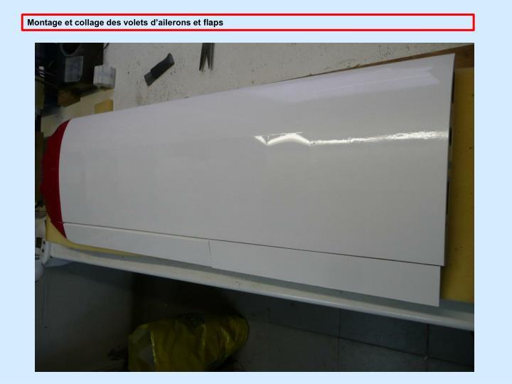 Montage et collage des volets d'ailerons et