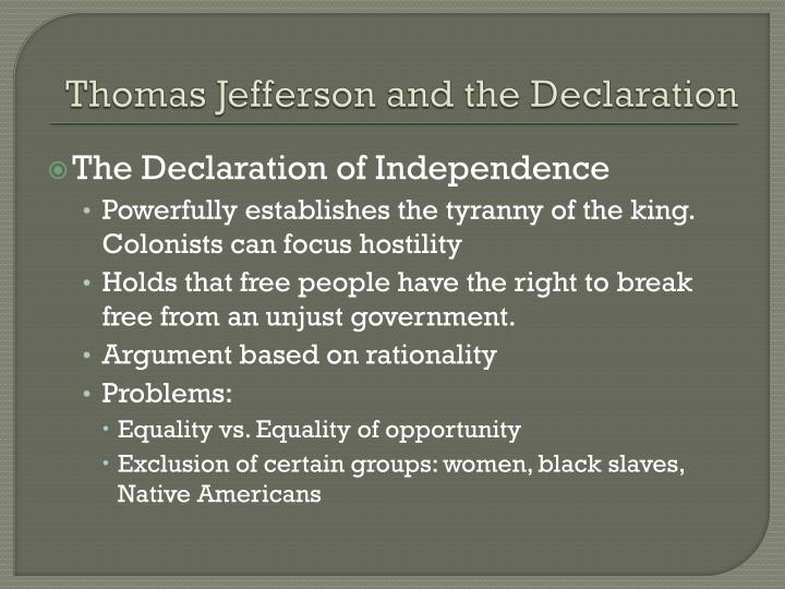 Thomas Jefferson and the Declaration