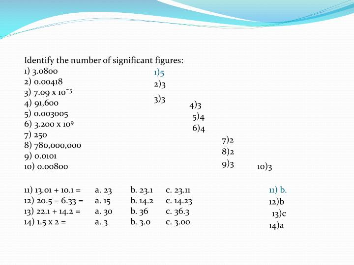 Identify the number of significant figures: